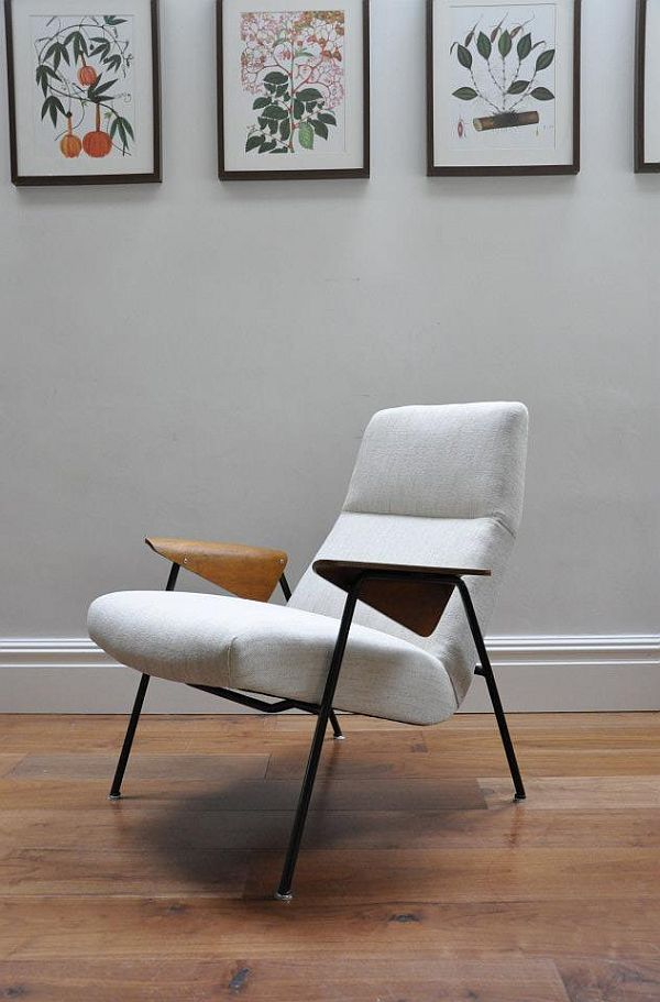 Re upholstered Arno Votteler 350 chair by Walter Knoll 1 German Inspiration: Very rare Arno Votteler 350 chair by Walter Knoll