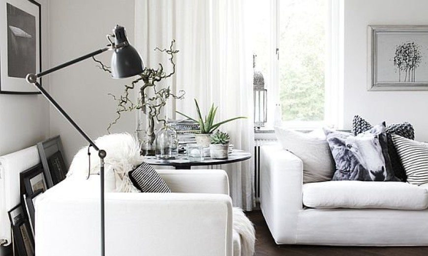 Scandinavian House Designed with Simple Black and White Hues