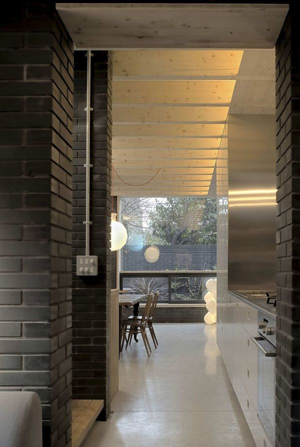Award Winning Small House In London With A Dark Brick Exterior