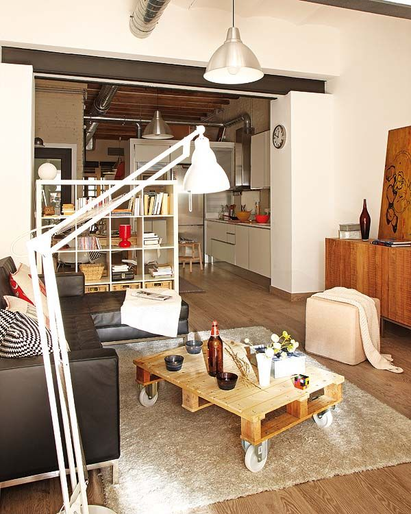 Tiny Apartment: Small Apartment Redecoration In Barcelona For Young Couple
