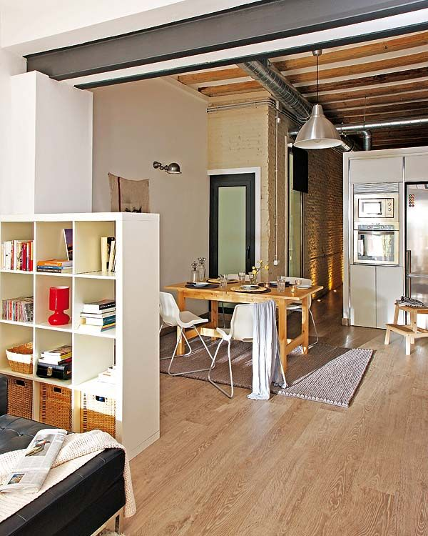 Mini Kitchen Area: Small Apartment Redecoration In Barcelona For Young Couple