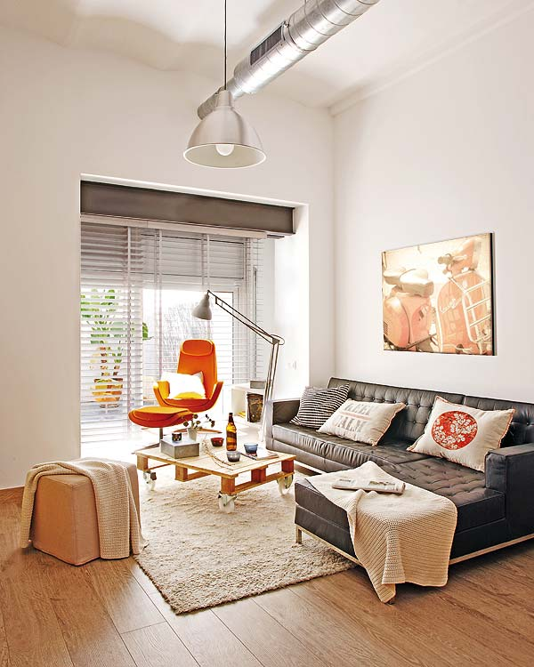 Small Loft Redecoration Small Apartment Redecoration in Barcelona for Young Couple