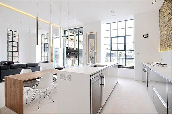 Sophisticated Clink Street Flat 1 Clink Street Flat Sports Elegant White Interiors