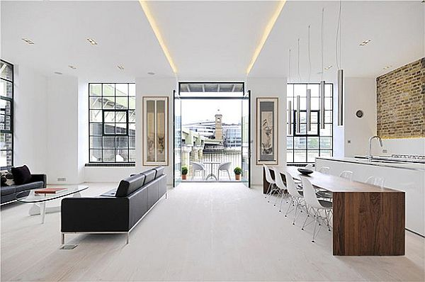 Sophisticated Clink Street Flat 2 Clink Street Flat Sports Elegant White Interiors