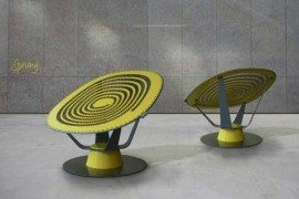 Unusual and dynamic Sprung Chair by Jason Klenner