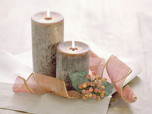 Valentines Day pillar candles