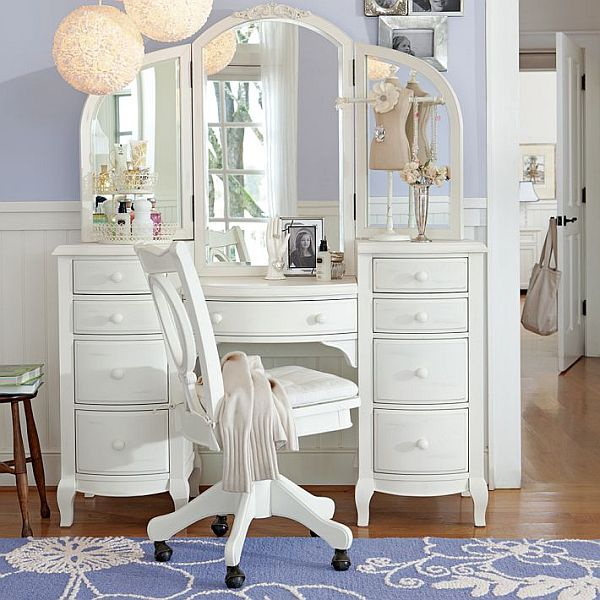 room design with fancy vanity teenage