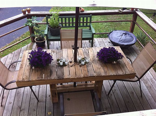 Pallet Patio Table Made From Wood