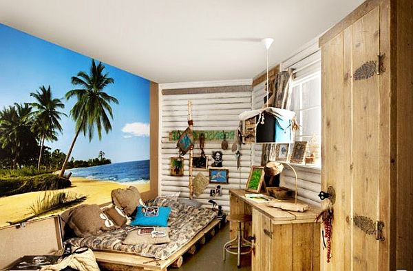 beach inspired teenage boys bedroom