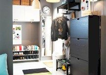 black IKEA shoe cabinet