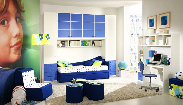 blue Teenage Boys Rooms