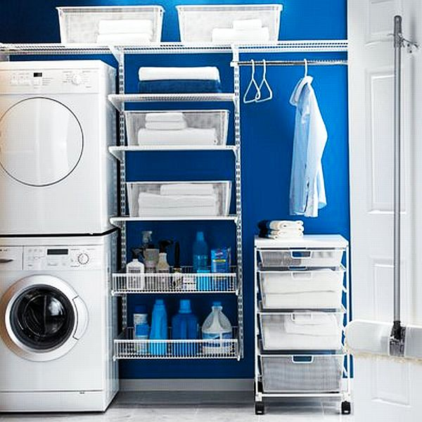 blue laundry room decoist