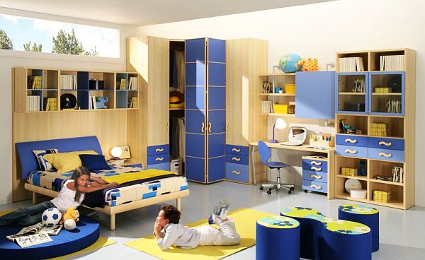 blue yellow Teenage Boys Rooms