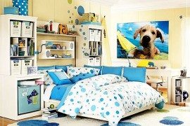 blue young girls rooms
