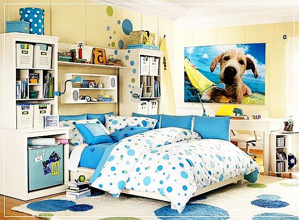 Teenage girls rooms inspiration 55 design ideas for Blue teenage bedroom ideas