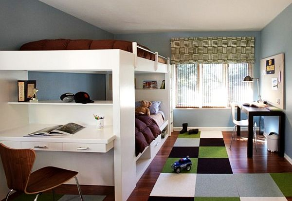 boys rooms loft beds Teenage Boys Rooms Inspiration: 29 Brilliant Ideas