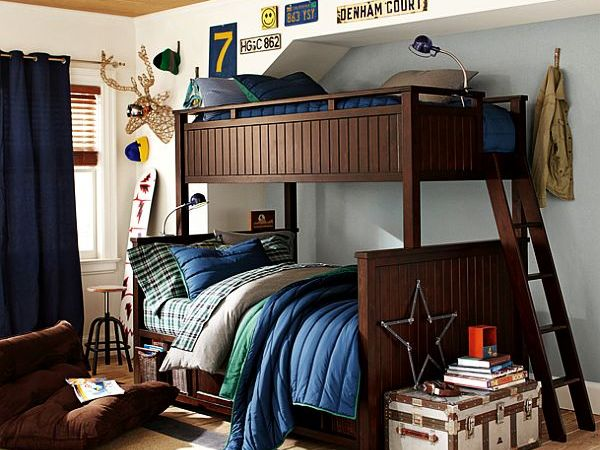 bunk beds teenage boys room idea