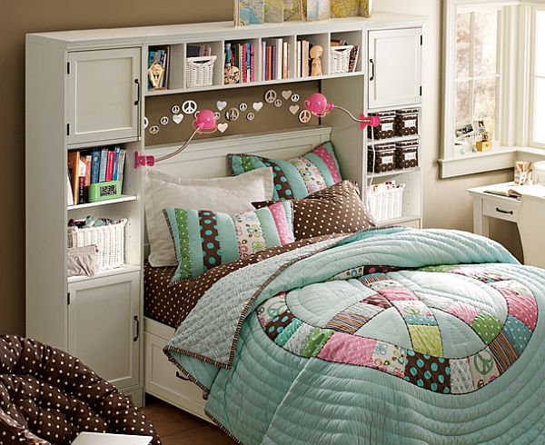 teenage girls bedroom design with colorful bedding pink teenage girls