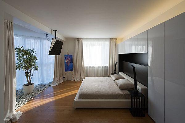 Moscow contemporary apartment sports elegance for Apartment design guide pdf