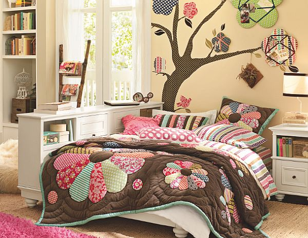 Bed For Teenage Girls Rooms Tropical Inspired Teenage Girls Bedrooms