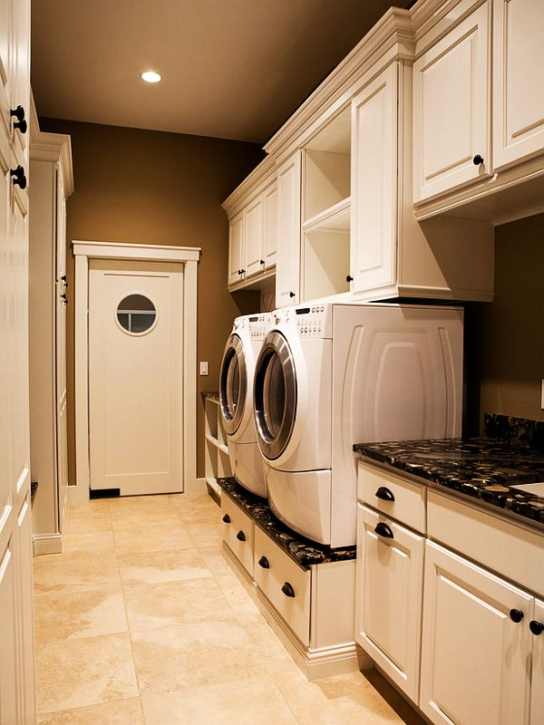 View In Gallery Custom Designed Furniture For A Functional Laundry Room