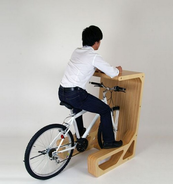 fancy bike desk Bike Desk   urban furniture design for eco friendly persons