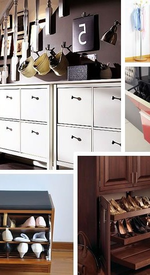 fancy, cool, modern shoe cabinets