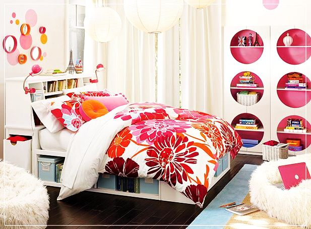 flowery teenage girls rooms ideas