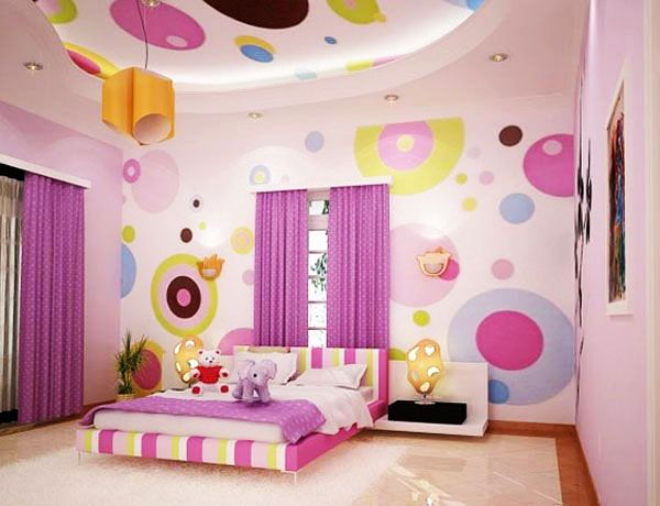 playful girls bedroom design - Teenage Bedroom Styles