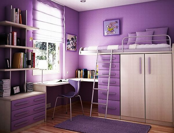 purple teen rooms