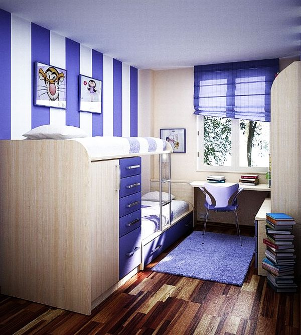 Merveilleux ... Bedroom Design For Teenage Girl View In Gallery Blue ...