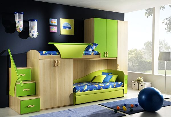 Green blue teenage boys rooms decoist for Blue teenage bedroom ideas