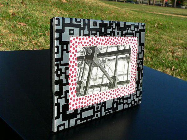 hand painted metal picture frames