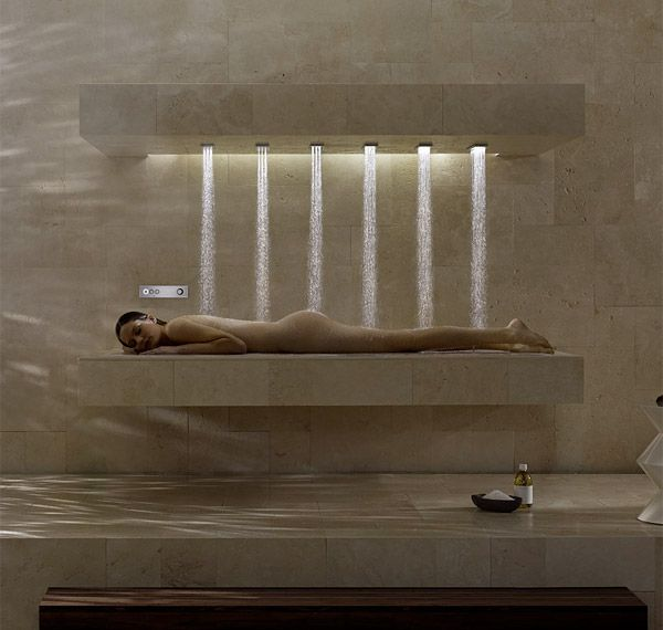 Horizontal shower reveals new dimension but who needs it - Dornbracht horizontal shower ...