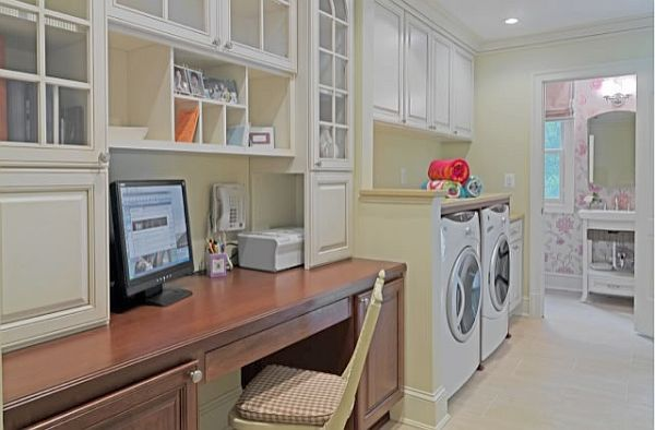 office laundry room view in gallery laundry room in the home office great design idea - Laundry Room Design Ideas