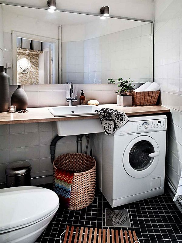 30 coolest laundry room design ideas for today 39 s modern homes for Small utility room