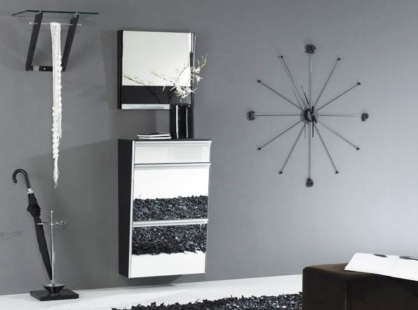 luxury mirrored shoe cabinet