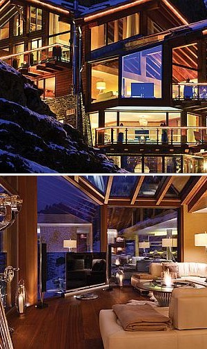 luxury ski chalet swiss alps