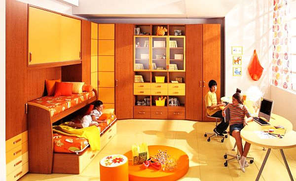 7 Inspiring Kid Room Color Options For Your Little Ones: Orange Teenage Boys Rooms
