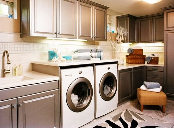 30 coolest laundry room design ideas for today39s modern homes for Laundry room cabinets ideas