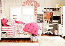 pink teenage girls rooms inspiration