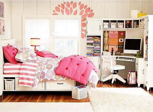 ... Pink teenage girls rooms inspiration ...