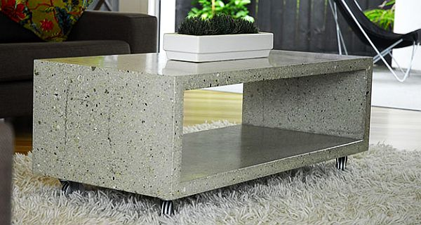 the cement furniture