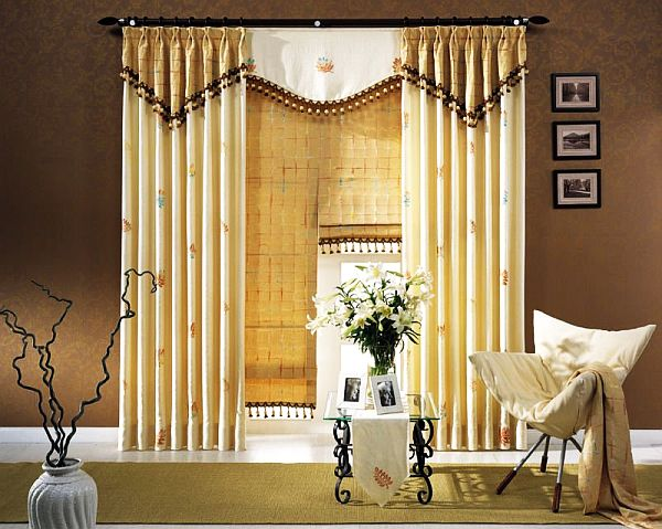 polyester box pleat curtain
