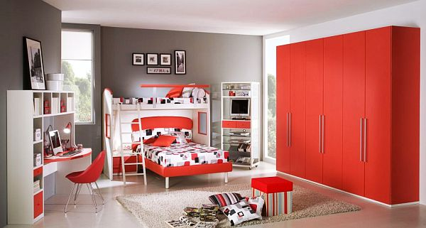 red Teenage Boys Rooms