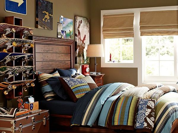 skateboard fans teen boys room ideas main bedroom home interior