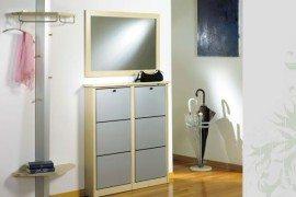 sleek shoe cabinet