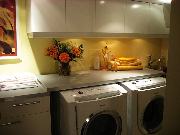 small basement laundry room