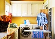small colorful laundry room
