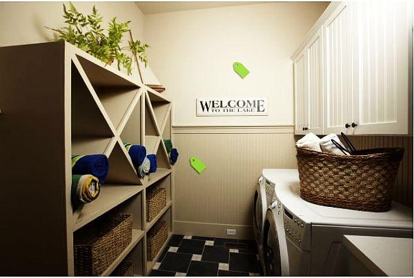small organized laundry room